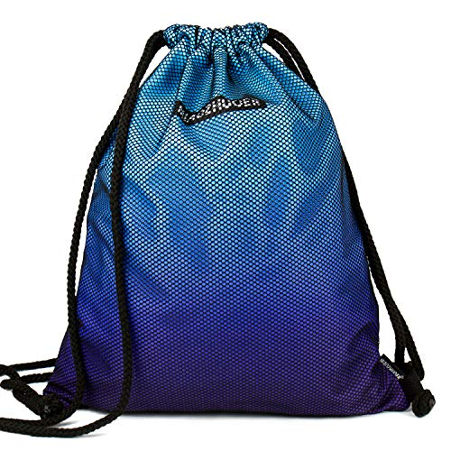 YLLS Drawstring Backpack Gradient Waterproof Tote String Mesh Bag  Lightweight Sackpack Cinch Sack for 0dcc6bab4bd8a