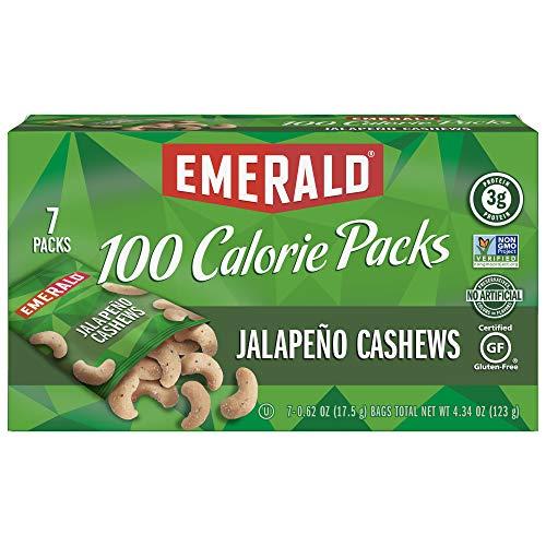 Emerald Jalapeño Cashews 100 Calorie Packs, 7 Count Box