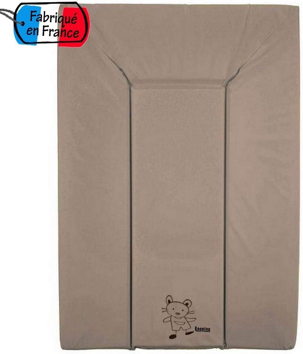 43,5 x 69 cm Looping Matelas /à langer en PVC Coloris Framboise Dimension