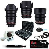 ROKINON CINE DS Portrait Bundle Lens Kit - 35mm + 50mm + 85mm for Canon EF