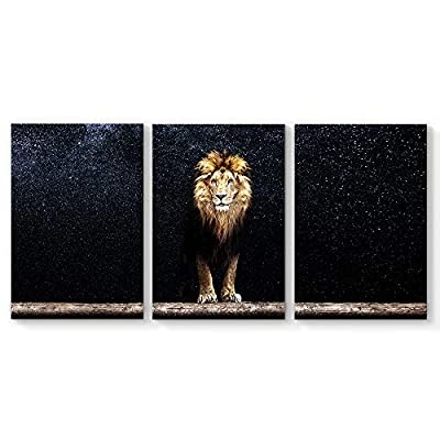 Astonishing Expertise, King of Forest Li Painting Wall Poster Decor for Living Room Framed x 3 Panels, With a Professional Touch
