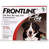 Frontline Flea Control Flea Control Plus for Dogs 89-132 lbs 6 Pack