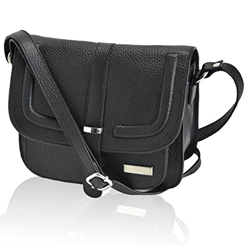 Estalon Black Purses Leather Shoulder Crossover Handbags Saddle Over Purse Travel Bags Pebble Women The by Womens For and Bag Crossbody T4rvTqUS