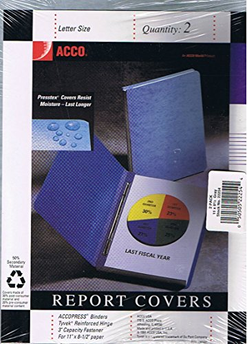 - ACCO Letter Size Report Covers, 2 Pack, No. 22254 (ACCOPRESS BINDERS, Tyvek Reinforced Hinge, 3