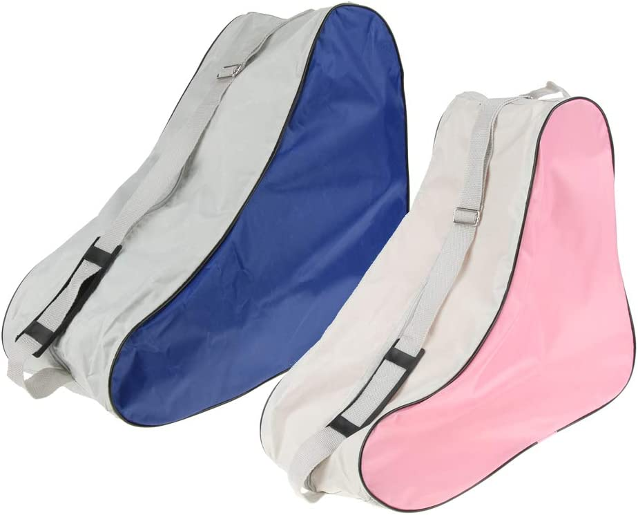 pink Blau perfeclan 2 x Unisex Schlittschuhe Tasche M/ädchen Rollschuhe Schultertasche M/ädchen Tasche f/ür Outdoor Sport