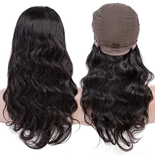 """QinMei Body Wave Lace Front Wigs Human Hair Wigs 10inch 100% Unprocessed Brazilian Virgin Remy Human Hair Lace Frontal Wig For Black Women Pre Plucked Natural Hairline with Baby Hair (10"""" Wig)"""