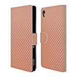 xperia z3 carbon case - Official Alyn Spiller Carbon Fibre Rose Gold Leather Book Wallet Case Cover for Sony Xperia Z3+ / Z3 Plus / Z4