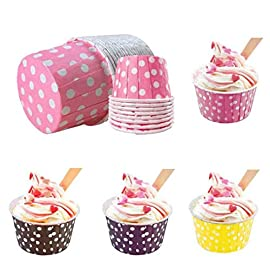 Gessppo 100pcs/set Paper Cake Cup/Muffin Chocolate Baking Cakes/Baking DIY Accessory-Resistant High Temperature, Easy to Operate and Clean 11 ❤❤Quantity: 100PC-----Material:Paper-----Product Size:Bottom width: 4cm,High: 2.9cm ❤️❤️Reusable Popsicle Molds Ice Pop Molds Maker - Set of 6 - With Silicone Funnel & Cleaning Brush - Green; Set of 6 Popsicle Molds Ice Pop Makers Ice Pop Molds Ice Bar Maker Plastic Popsicle Mold, Kids Ice Cream Tray Holder Lolly Pops, Kitchen Supply, BPA Free FDA Approved Popsicles, Large, Mixed ❤️❤️12 Cup Silicone Muffin - Cupcake Baking Pan / Non - Stick Silicone Mold / Dishwasher - Microwave Safe; 2Packs Silicone Mini Muffin Pan, Silicone Molds for Muffin Tins, Cupcake Baking Pan (Red);Ware Platinum Collection Heritage Bundt Pan