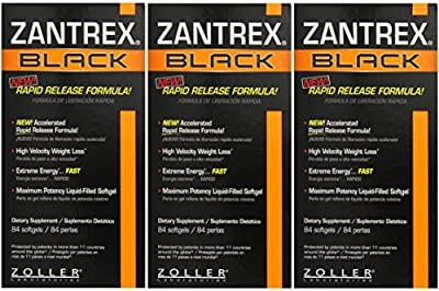Basic Research Zantrex Black Softgels, 84 Count - 3 Pack