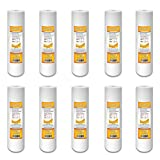 """5 Micron Sediment Water Filter Cartridge for Reverse Osmosis 10"""" x 2.5"""", 10 PACK"""