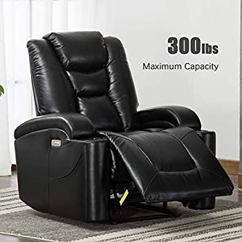 Amazon Com Seatcraft Dynasty Home Theater Seating Power Recliner Leather Gel Lighted