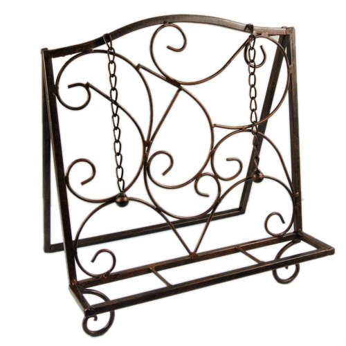 [New French Antique Brass Metal Cookbook Recipe Stand Holder Easel Decor Display] (Bronze Easel Stand)