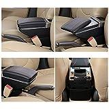 Armrest Rotatable Black Leather Center Console