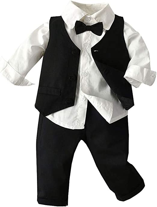 Baby clothes KIDS boy clothes formal suit top/&pants outfits gentleman tuxedo