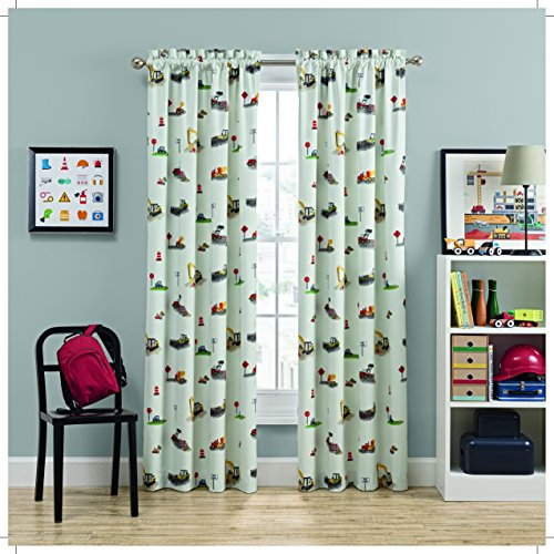 WAVERLY 16929042X084IVY Kids Can You Dig It Single Window Panel, 42×84, Ivory