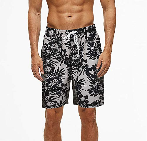 ELETOP Mens Swim Shorts Quick Dry Swimming Trunks Surf Beach Board Shorts with Adjustable Drawstring