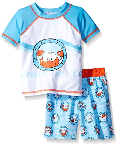 SOL Swim Little Boys Under The Sea Rash Guard Set, Under The Sea, 7