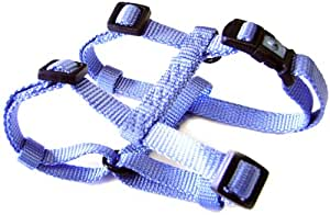 "Hamilton Adjustable Comfort Nylon Dog Harness, Berry Blue, 3/4"" x 20-30"""