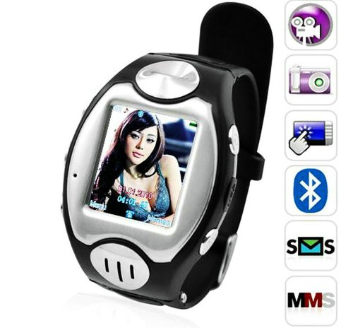 MW09 Watch Cell Phone ~ unlocked~ Quad-band + Free 4GB card+Free Bluetooth headset
