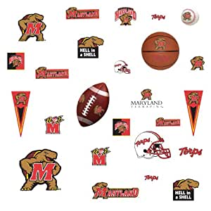 RoomMates RMK1107SCS University of Maryland Peel & Stick Wall Decals