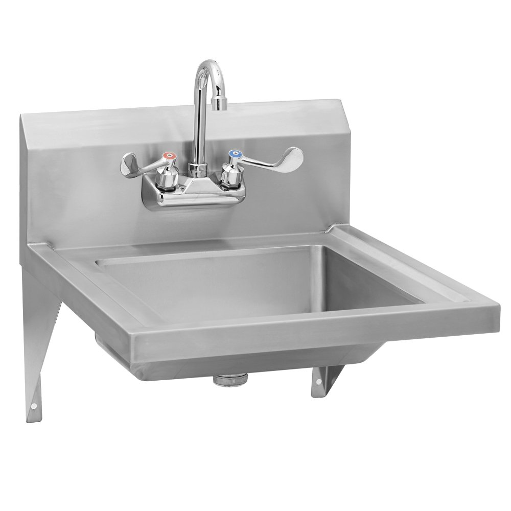 Fenix Sol Wall Mounted ADA Compliant Hand Sink with Splash Mount Faucet, 20''L x 23''W x 13''H, Faucet Included, NSF Certified