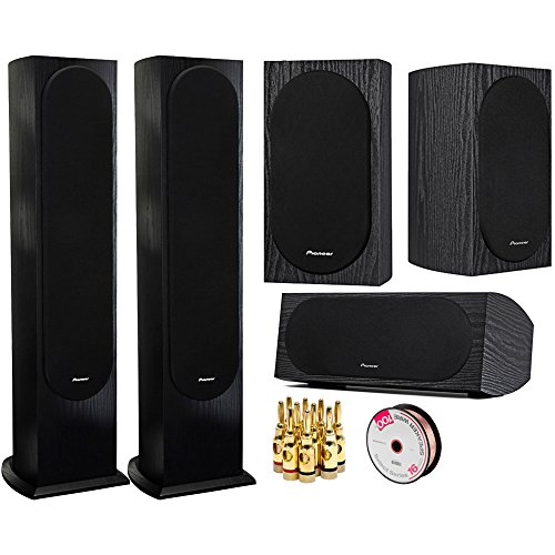 Pioneer Andrew Jones Designed Floorstanding Loudspeaker Each 2 Pack (SP-FS52) with 4