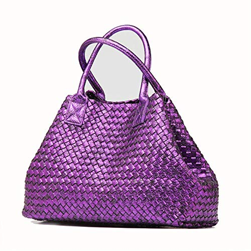 Handmade Handbag Bags Female Hobo Black color Xuanbao Totes Commuter Women's Womens Crossbody Shopping Serpentine Ladies Storage Shoulder Bag Purple Joker 0Spq8