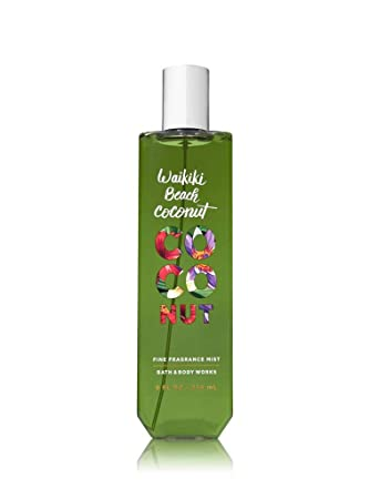 Bath Body Works Waikiki Beach Coconut Fine Fragrance Mist 8 Fl Oz