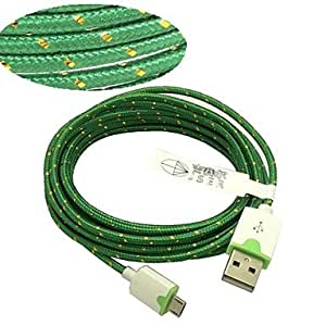 Charging/Data Sync USB 2.0/Micro USB 2.0 Textile/PVC/ABS Cables For Samsung Mobile Phone