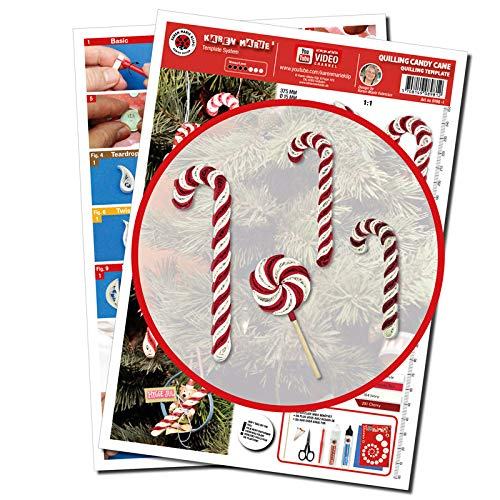 Karen Marie Klip Papirmuseets By A/S Quilling Template, Candy Cane