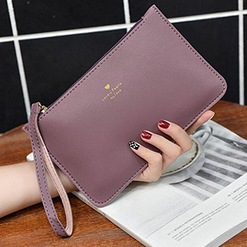 Fashion Messenger Phone Bags Handbag Bag Leather GINELO Women's Purple Bag wallet Coin 0W4Ew