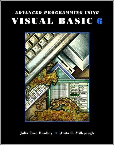 Advanced Programming in Visual Basic 6 0 w/Cd: 9780072420241