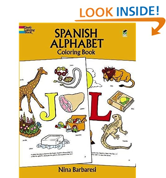 Spanish Alphabet Coloring Book (Dover Childrens Bilingual Coloring Book)