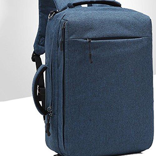 Laptop Mochila al aire libre, Mochila Multi-funcional de los hombres Mochila impermeable de la computadora del cargo del USB 15 bolsos de la computadora de la pulgada Bolsos creativos de la escuela de Azul