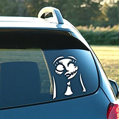 "Signage Cafe Sally - Nightmare Before Christmas – 4.25"" Wide x 5"" Tall, Vinyl Decal - for Windows, Cars, Trucks, Tool Boxes, laptops and Tablets: Automotive"
