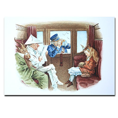 Alice in Wonderland Genuine Postcard Guard Looking At Alice Card Gift (Alice In Wonderland Guards)