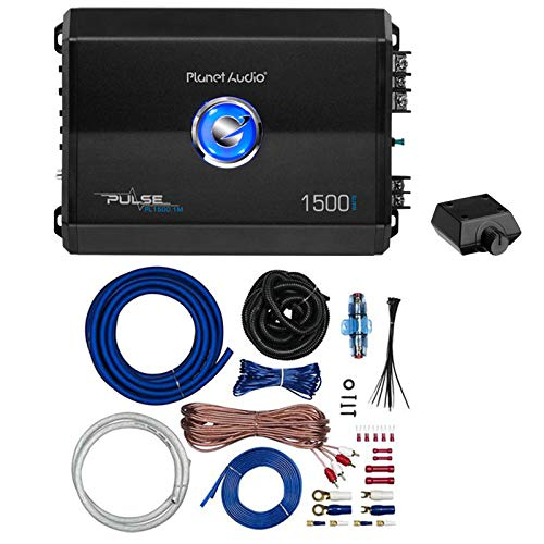Planet Audio PL1500.1M 1500W Mono Class AB Amplifier with PKBL2 Amp Install Kit