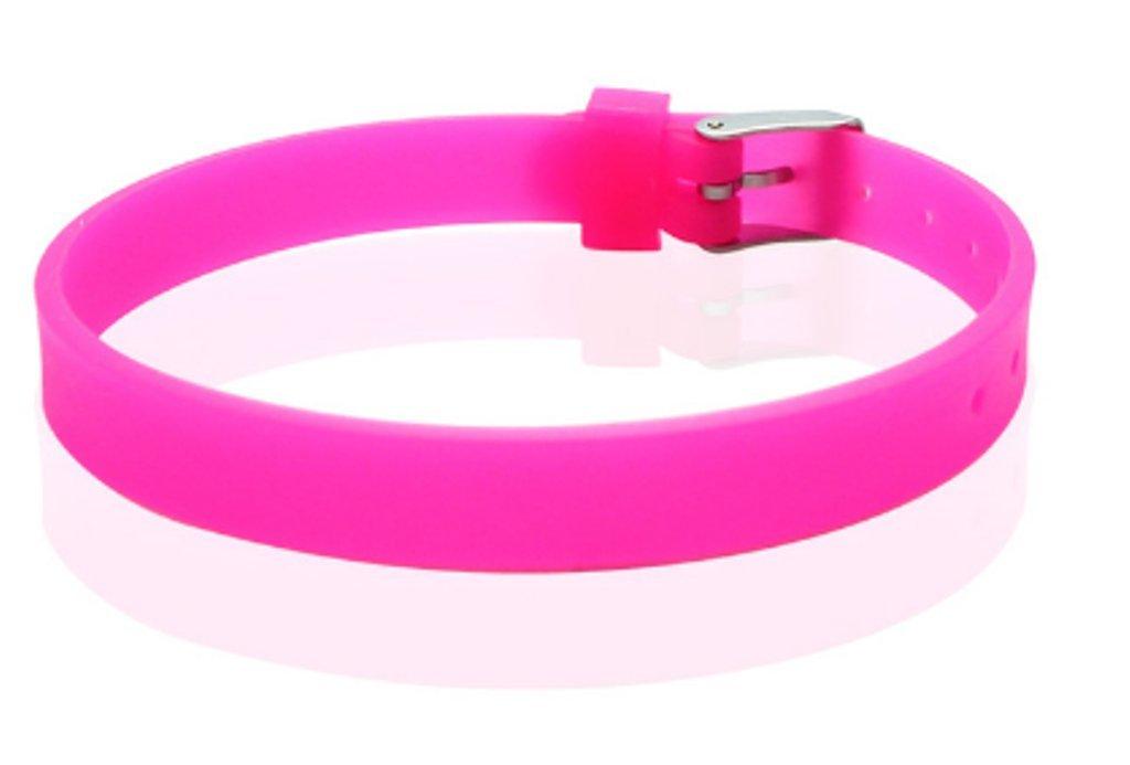 10 PCs Silicone Rubber Multi Color Solid Color Bracelet Wristband Cuff (Black) AccessCube