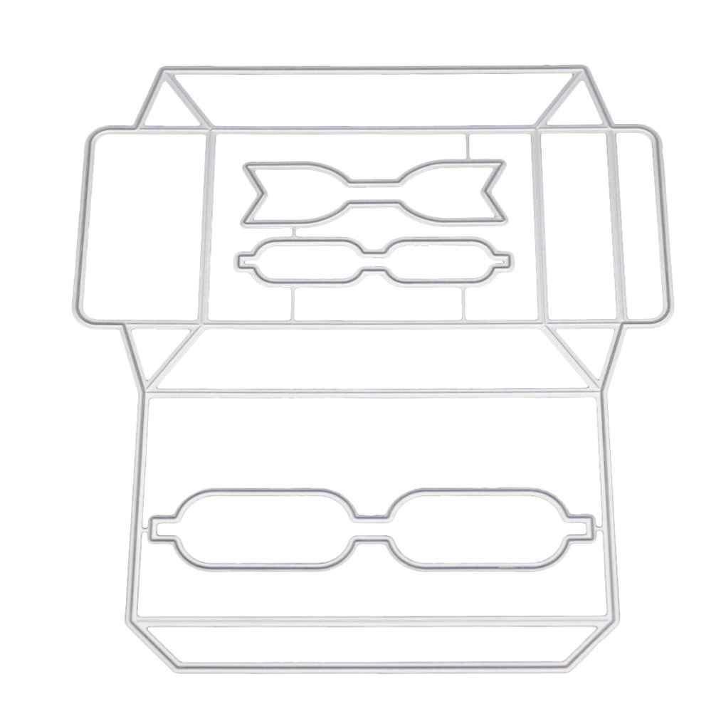 Mengonee DIY 3D Caramelo Caja de Regalo de Troqueles de Corte invitación de la Foto Tarjetas de felicitación decoración de Metal Plantillas: Amazon.es: ...