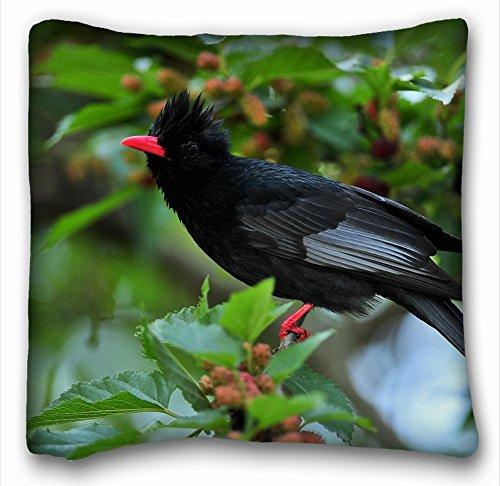 Decorative Square Throw Pillow Case Animals bird crest s leaves 18
