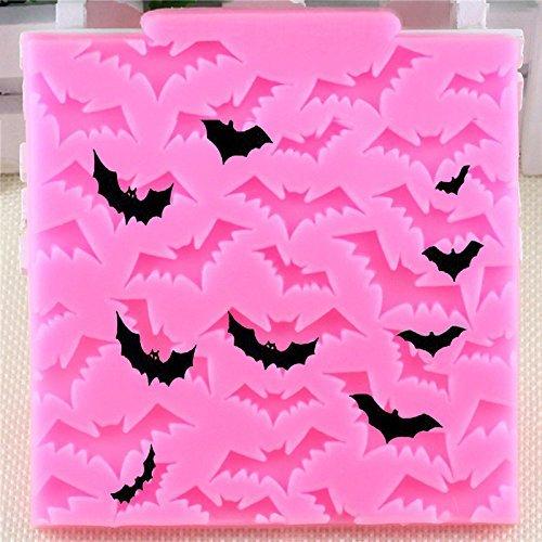 Kanggest Cake Mould Novelty Silicone sugar paste Bakeware Mould Pop Funny Halloween Bat Pattern Sugar craft Cake Moulds Kit