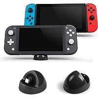 LEHOO Playstand de Cargador Compatible para Nintendo Switch y Lite, Estación de Carga de Soporte Compact Dock con Puerto Tipo C, para Otros Dispositivos de Interfaz Tipo C (Gris)