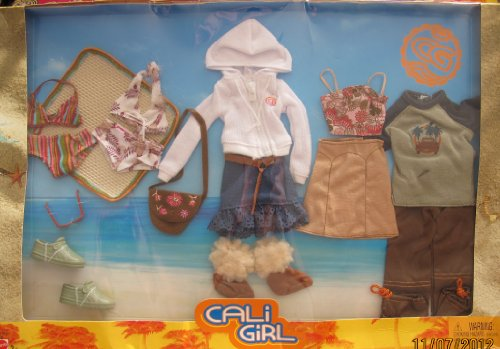 Barbie Cali Girl - BARBIE CALI GIRL FASHIONS Outfits for BARBIE & KEN Dolls w Accessories (2003)