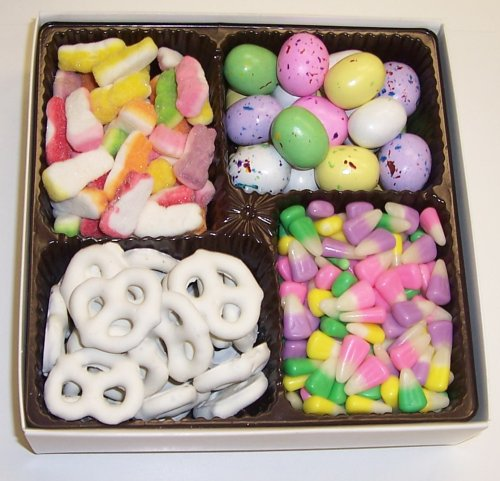 Scott's Cakes Large 4-Pack Bunny Corn, Sour Bunnies, Chocolate Malt Eggs, & White Pretzels