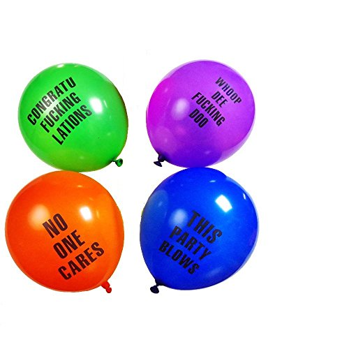 Shitty Abusive Balloons for ANY Party (24 Pack) -