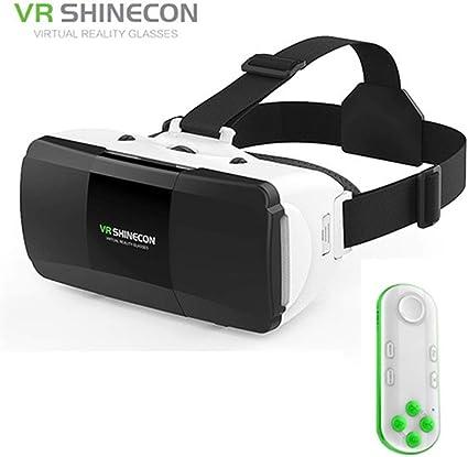 MJTCJY Gafas 3D Realidad Virtual VR Smartphone con Mando a ...