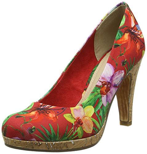 Marco Tozzi Damen 22421 Pumps Rot (Chili Flower 547)