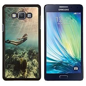 LECELL--Funda protectora / Cubierta / Piel For Samsung Galaxy A7 A7000 -- Buceo Océano Mujer Hermosa Sea Light --