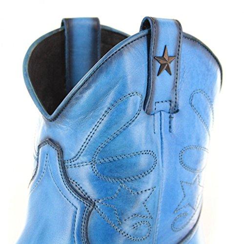 Fb Mode Laarzen Laarzen Mayura 2374 Azul Mode Enkellaars Voor Vrouwen Blue Azul