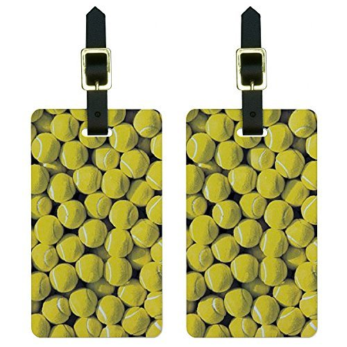 Graphics & More Tennis Balls Luggage Tags Suitcase Carry-on Id, White